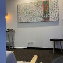 Renae Geddes Artist painting Veil