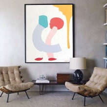 red shoes print decor